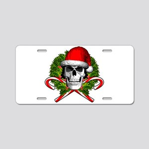 Christmas Skull Aluminum License Plate