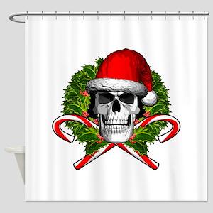 Christmas Skull Shower Curtain