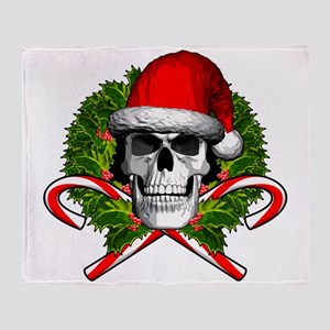 Christmas Skull Throw Blanket