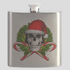 Christmas Skull Flask