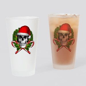 Christmas Skull Drinking Glass