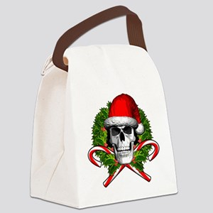 Christmas Skull Canvas Lunch Bag