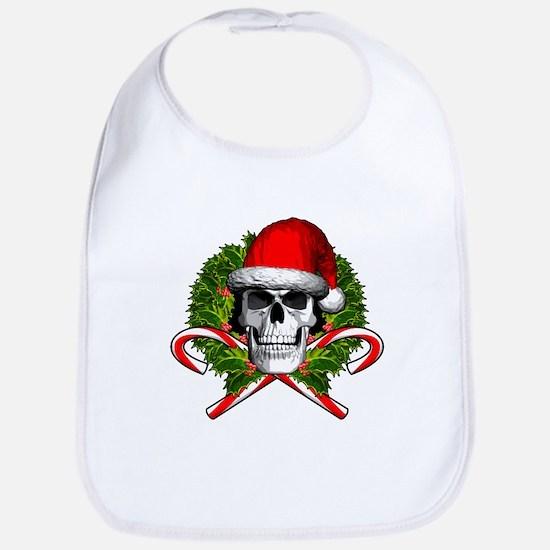 Christmas Skull Bib