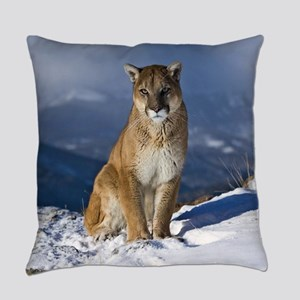 Puma During Winter Everyday Pillow