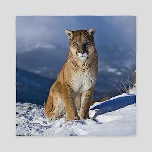 Puma During Winter Queen Duvet