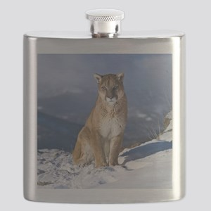 Puma During Winter Flask