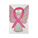 Breast Cancer Pink Ribbon Angel Magnets 10 Pack