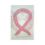 Pink Awareness Ribbon Angel Magnets 100 Pack