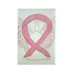 Pink Awareness Ribbon Angel Magnets 10 Pack