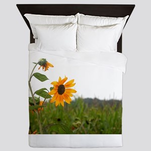 Sunflower In Field Queen Duvet