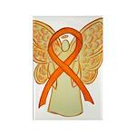 Orange Awareness Ribbon Angel Magnets 100 Pack