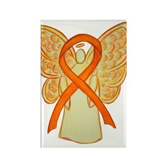 Orange Awareness Ribbon Angel Magnets 100 Pack