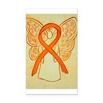 Orange Awareness Ribbon Angel Rectangle Car Magnet