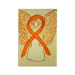 Orange Awareness Ribbon Angel Magnets 10 Pack