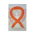 Orange Cat Awareness Ribbon Angel Magnets 10 Pack