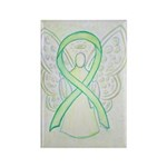Lime Green Awareness Ribbon Angel Magnets 100 Pack