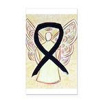Black Awareness Ribbon Angel Rectangle Car Magnet