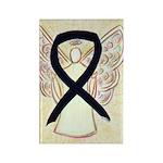 Black Awareness Ribbon Angel Magnets