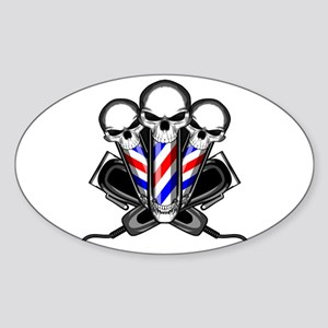 Barber Skulls Sticker