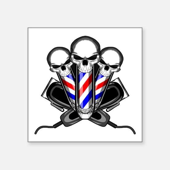Barber Skulls Sticker