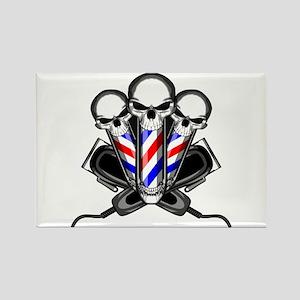 Barber Skulls Magnets