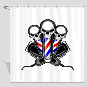 Barber Skulls Shower Curtain