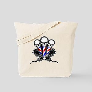 Barber Skulls Tote Bag