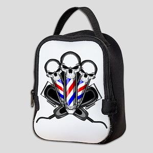 Barber Skulls Neoprene Lunch Bag