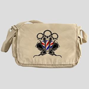 Barber Skulls Messenger Bag