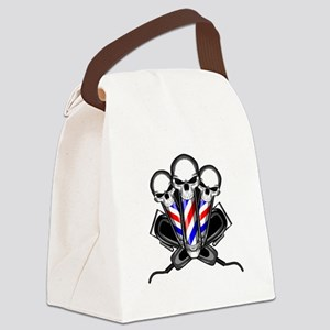 Barber Skulls Canvas Lunch Bag