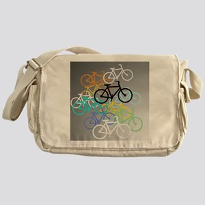 Colored Bikes Design Messenger Bag