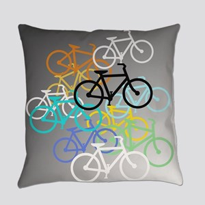 Colored Bikes Design Everyday Pillow