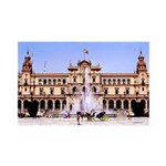 Seville Spain 35x21 Wall Decal