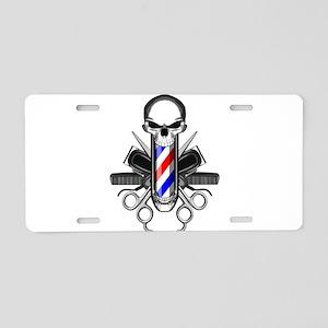 Barber Skull: Barber Tools Aluminum License Plate
