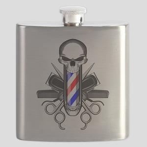 Barber Skull: Barber Tools Flask
