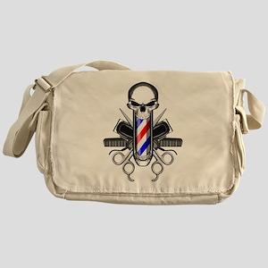 Barber Skull: Barber Tools Messenger Bag