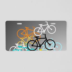 Colored Bikes Design Aluminum License Plate