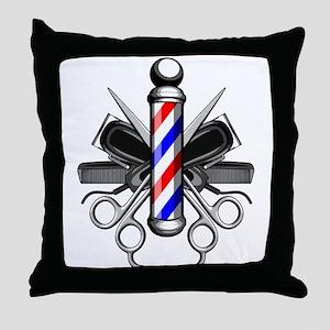 Barber Logo Throw Pillow