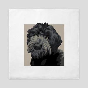 Black Russian Terrier Queen Duvet