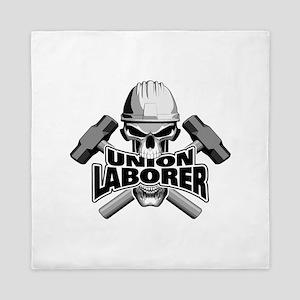 Union Laborer Skull Queen Duvet