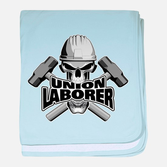 Union Laborer Skull baby blanket