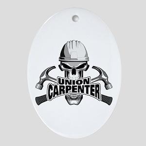 Union Carpenter Skull Oval Ornament