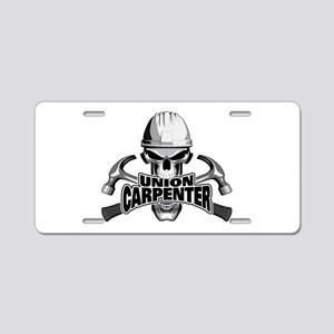 Union Carpenter Skull Aluminum License Plate