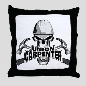 Union Carpenter Skull Throw Pillow