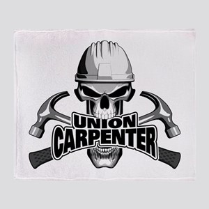 Union Carpenter Skull Throw Blanket