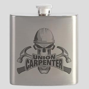 Union Carpenter Skull Flask