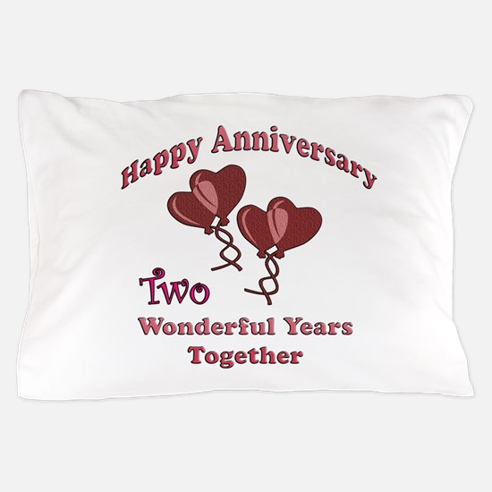 2nd. Anniversary Pillow Case
