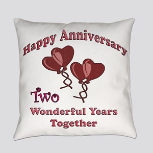 2nd. Anniversary Everyday Pillow