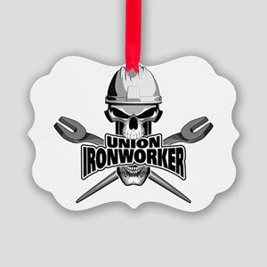 Union Ironworker Skull Ornament