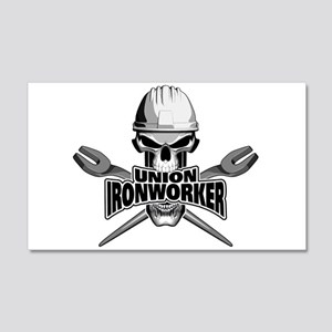 Union Ironworker Skull Wall Decal